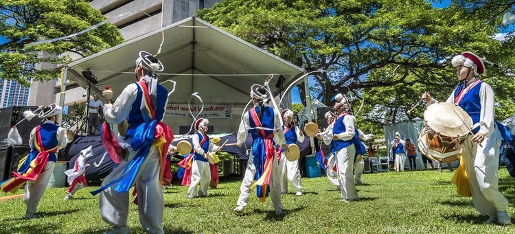 Performance during the Korean Festival in Hawaii